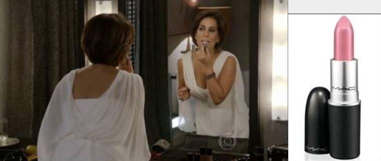 Gloria Pires, que interpreta a personagem Beatriz em Babilônia,  usa o batom Snob - Crédito: Divulgação/MAC Cosmetics