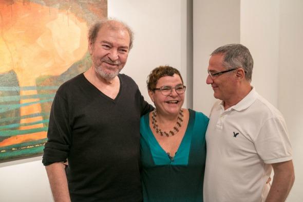 Raul Córdula, Christina Machado e Renato Valle. Crédito: Divulgação