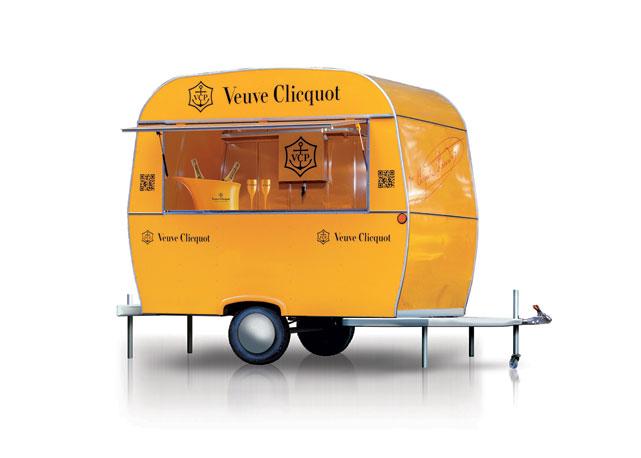 Trailer da Veuve Clicquot estacionou no RioMar - Crédito: Veuve Clicquot/Divulgação