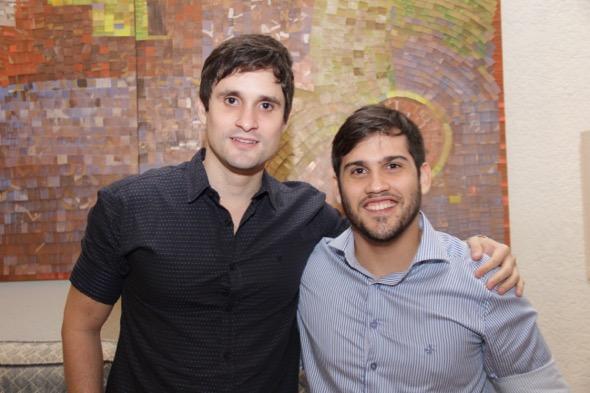 Fernando Pontes e Eduardo Mendonça. Crédito: Luiz Fabiano / DIvugação
