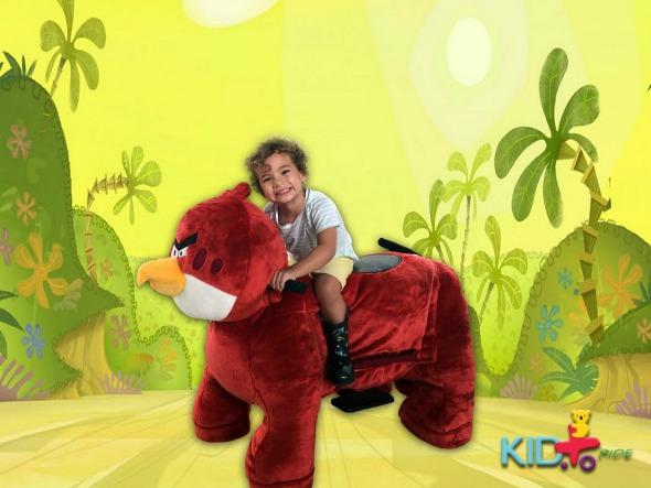 Uma das pelúcias motorizadas da Kid+Ride. Crédito: Divulgação