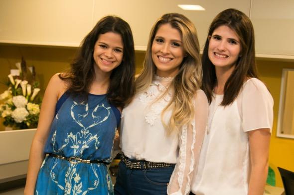 Nathalia Bessa, Taynee Neves e Bárbara Morato - Crédito: Tatiana Sotero/DP/D.A Press