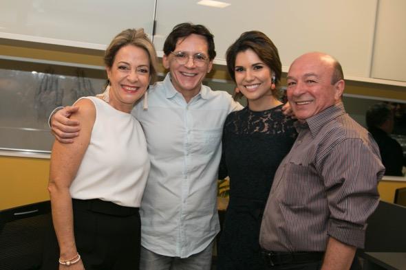 Márcia Nejaim, Zezinho Santos, Suzana Azevedo e  Argemiro Holanda - Crédito: Tatiana Sotero/DP/D.A Press