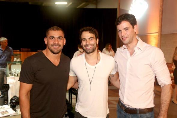 Bruno Novaes, Této Marinho e Ricardo Lapa. Crédito: Guilherme Paiva