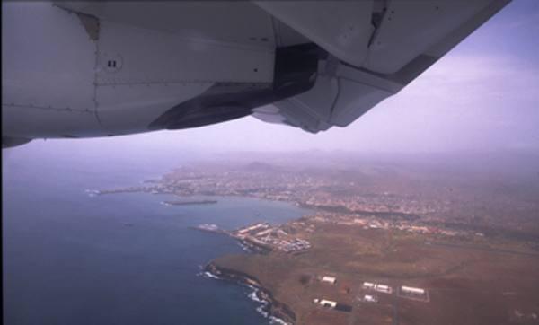 Cabo Verde visto do alto