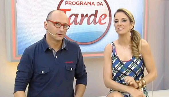 Brito Júnior e Ticiane Pinheiro/TV Record/Divulgação