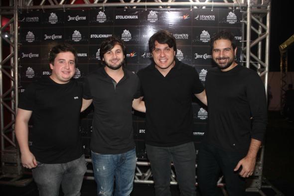 Renato Feitosa, Rodrigo Carvalheira, Thiago Figlioulo e Fabio Trindade -  Crédito: Vinicius Ramos/Divulgação