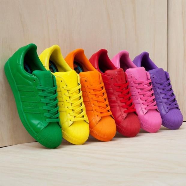 Os tênis super coloridos são a nova sensação no mundo da moda - Crédito: Adidas/Divulgação