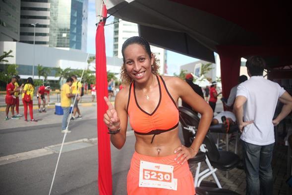 Hermínia Dias, primeiro lugar categoria 5km. Crédito: Vinícius Ramos