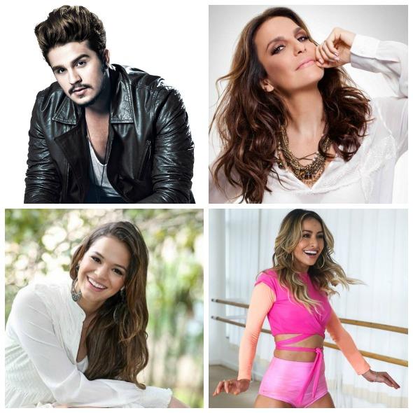Luan Santana, Ivete Sangalo, Bruna Marquezine e Sabrina Sato já estão ativos no Snapchat - Créditos: Divulgação dos artistas