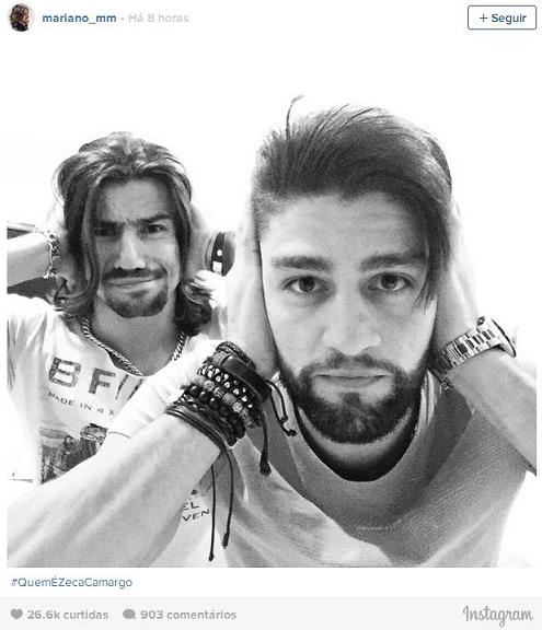 """Munhoz e Mariano entraram na campanha """"#QuemÈZecaCamargo?"""" - Crédito: Reprodução do Instagram"""