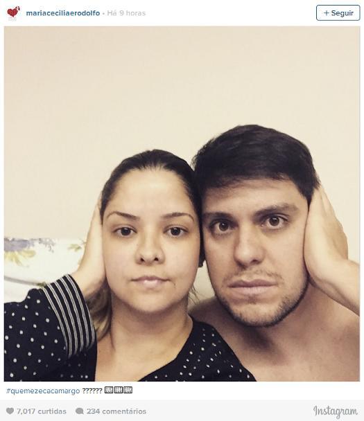 """Maria Cecilia e rodolfo aderiram à campanha """"Quem é Zeca Camargo?"""" - Crédito: Reprodução do Instagram"""