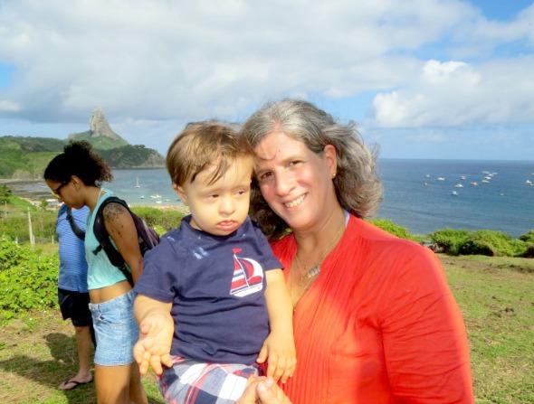 Renata Campos com o pequeno Miguel no colo - Crédito: Ana Clara Marinho/TV Globo