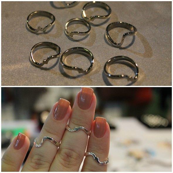 Anéis de falange feitos em prata. Eles estão à venda no stand do Rio Grande do Sul Créditos: Taís Machado/ DP/D.A Press