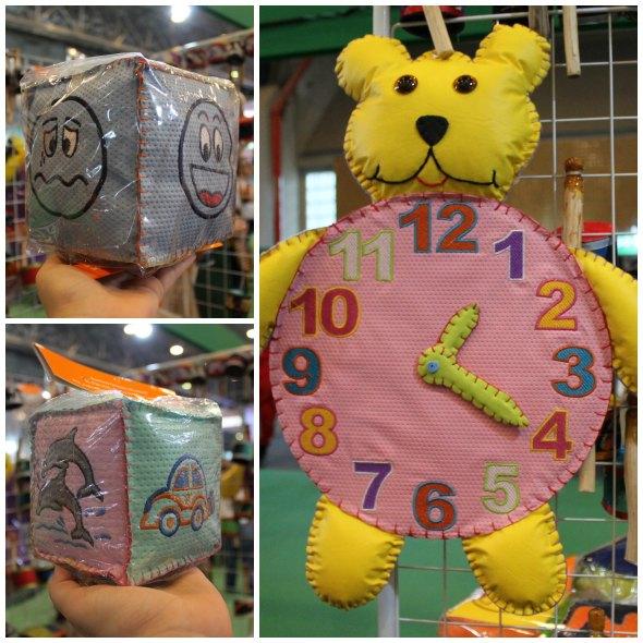 Brinquedos Educativos feitos de couro sintético Créditos: Taís Machado/ DP/D.A Press