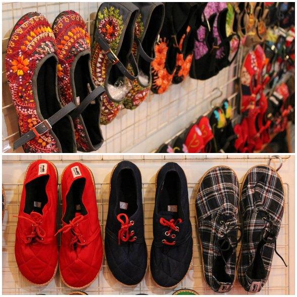 As sapatilhas bordadas e os tênis de tecido são a pedida da Dopando Créditos: Taís Machado/ DP/D.A Press