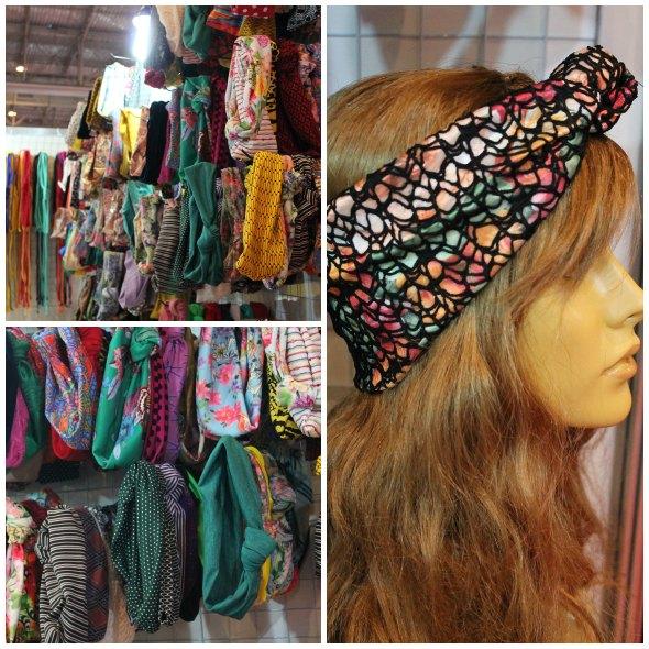 Os turbantes custam R$ 15 e possuem várias cores e estampas Créditos: Taís Machado/ DP/D.A Press
