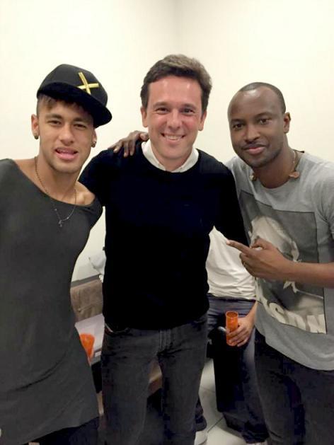 Neymar, Augusto e Thiaguinho -  Crédito: Arquivo pessoal/Augusto Acioli