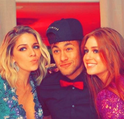 Luma Costa, Neymar e Marina Ruy Barbosa. Crédito: Reprodução Instagram