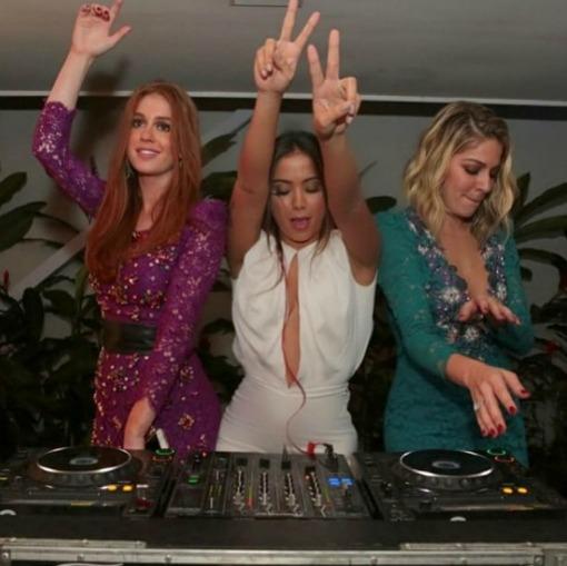 Marina Ruy Barbosa, Anitta e Luma Costa. Crédito: Reprodução Instagram