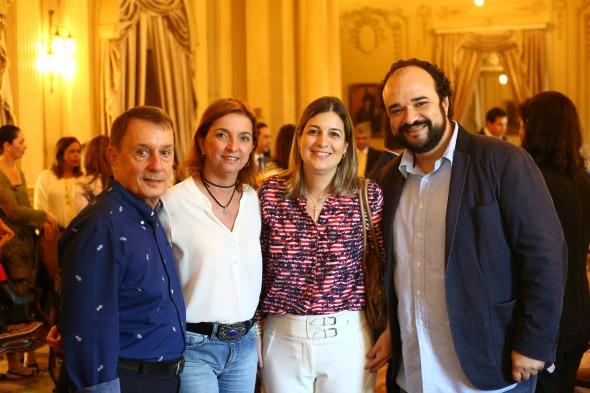Carlos Augusto Lira, Márcia Souto, Milu Megale e André - Brasileiro  -  Crédito: Wagner Ramos/Sei