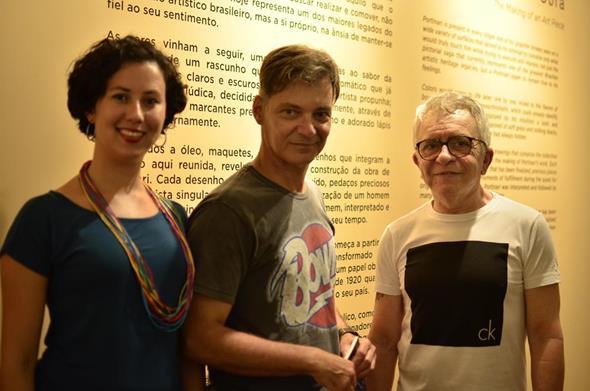 Anny Rafaella Ferli, Alexandres Sampaio e Pedro Alencar. Crédito: Renata Pires/Divulgação