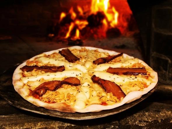 Pizza Pollo do Boteco Barazzone. Crédito: Divulgação