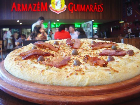 Pizza Vovó Antonieta do Armazém Guimarães. Crédito: Divulgação