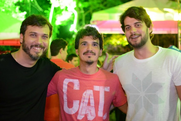 RomeroB, André Galetinho e Saun Fonseca. Crédito: Gabriel Pontual/Divulgação