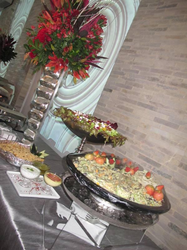 Buffet do jantar da Di Branco