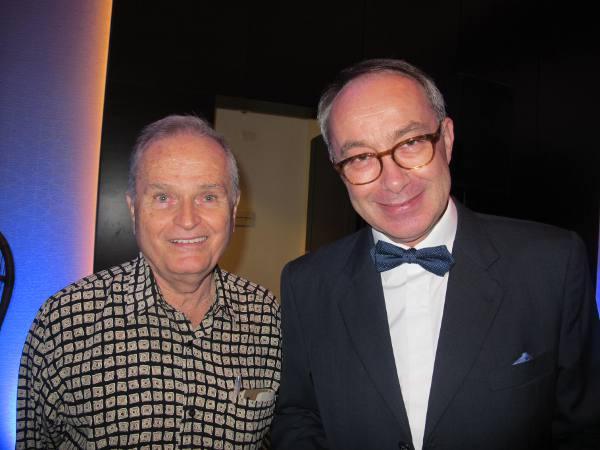 O cônsul da França, Bruno Bisson e o jornalista Fernando Machado