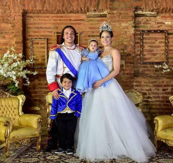 Wesley Safadão comemorou o aniversário de 1 ano da filha Ysis, fruto de seu relacionamento com a modelo Thyane Dantas, com festa inspirada nos contos de fadas - Crédito: Milena Marques/Divulgação