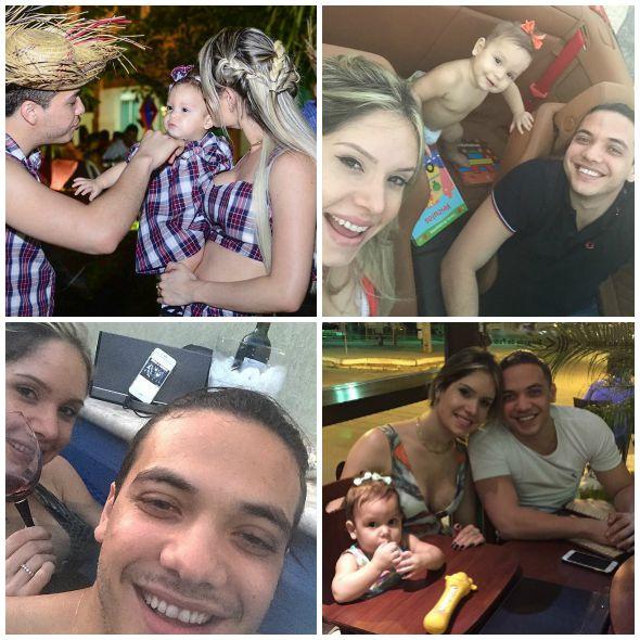 Os momentos de Thyane Dantas, Wesley Safadão e a pequena Ysis - Créditos: Reprodução do Instagram