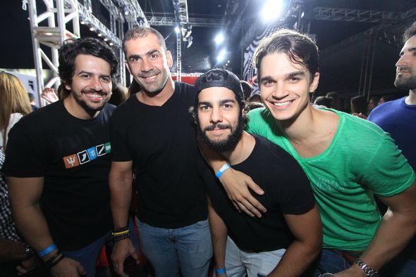 Aníbal Pinteiro, Bruno Novaes, José Pinteiro e Victor Carvalheira - Crédito: Luiz Fabiano/Divulgação
