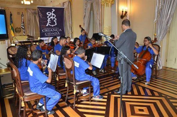 Orquestra Criança Cidadã Meninos de Ipojuca. Crédito: Ivan Nascimento/Reprodução