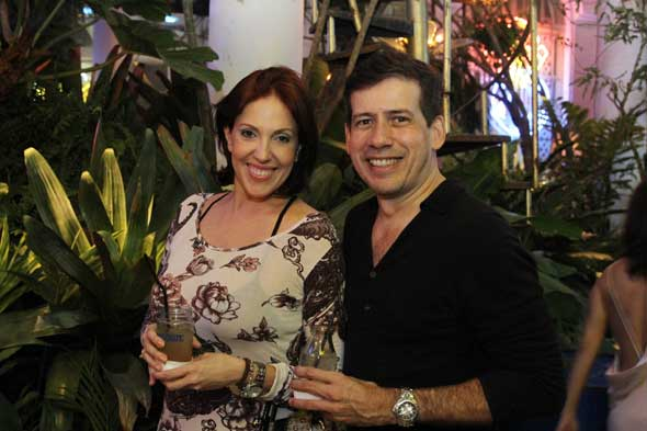 Cris Glasner e André Porto celebram os 5 anos da revista Crédito: Nando Chiappetta/DP/D.A Press