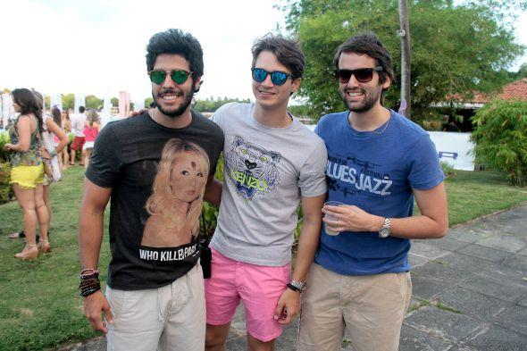 Zé Pinteiro, Victor Carvalheira e Jorge Peixoto Crédito: Gleyson Ramos/ Divulgação