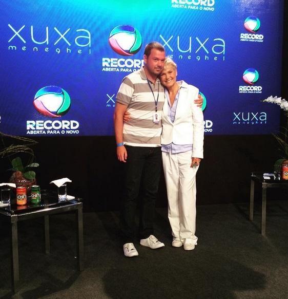 Xuxa e Mariozinho Vaz, diretor do programa Créditos: Reprodução Instagram Oficial da apresentadora
