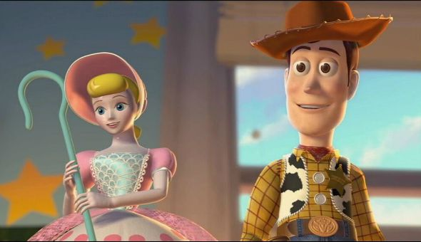 Os personagens Betty e Woody. Crédito: Reprodução/Pixar