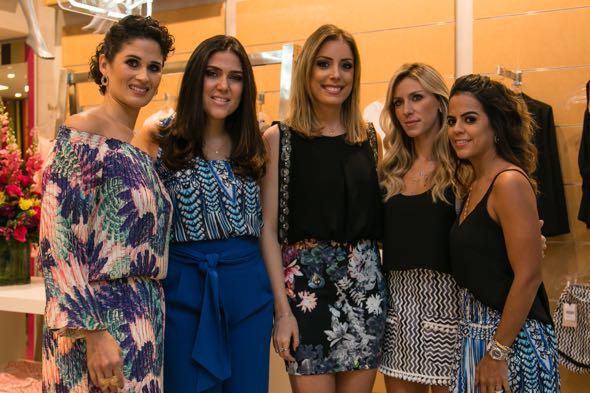 Gabriela Queiroz Galvão, Dani Mattar, Fabiana Justus, Nati Vozza e Manuela Tenório - Crédito: Tatiana Sotero/DP/D.A Press