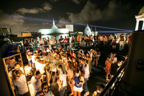 Rooftop do Absolut Art Bar. Crédito: Divulgação