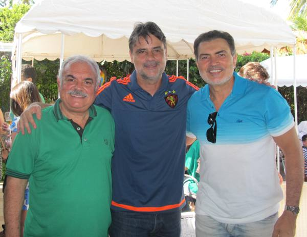 Ricardo Costa, Raul Henry e Tony Gel, trio do PMDB