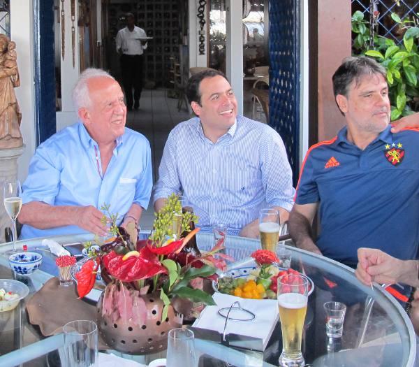 Jarbas Vasconcelos, Paulo Câmara e Raul Henry