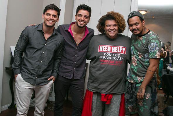 Bruno Gissoni, Rodrigo Simas, Gominho e Duh Marinho -  Crédito: Tatiana Sotero/DP/D.A Press