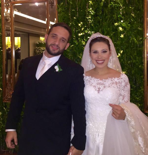 Os noivos Amanda Basto e Pedro Henrique Farias Santos