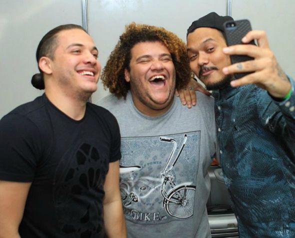 Momento selfie: Wesley Safadão, Gominho e Duh Marinho - Crédito: Luiz Fabiano/Divulgação