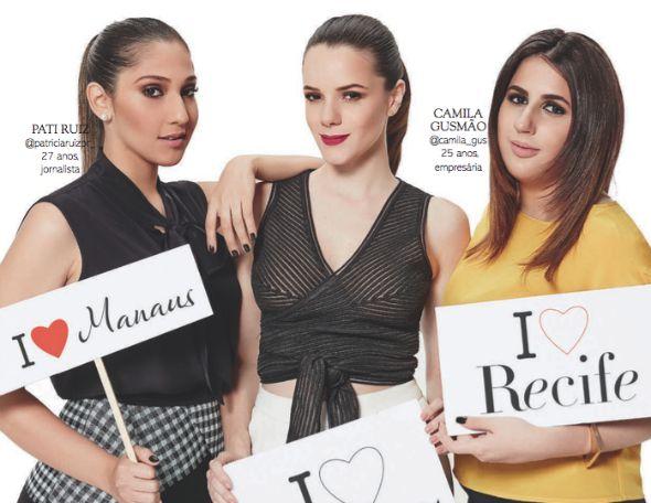 """Matéria """"Embaixadoras do Brasil"""" da Glamour de setembro. Crédito: Reprodução/Glamour"""