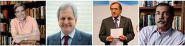Marco Antonio Vila, Augusto Nunes, Carlos Alberto Sardenberg e Merval Pereira