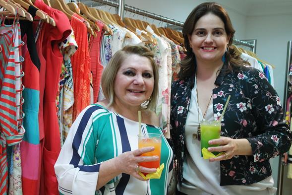 Fátima Alencar e Ana Amélia Coelho. Crédito: Jaeny Nascimento/Divulgação