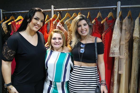 Michelle Lima, Fátima Alencar e Rebeca Candéas. Crédito: Jaeny Nascimento/Divulgação